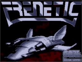 Title screen of Frenetic on the Commodore Amiga.