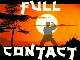 Title screen of Full Contact on the Commodore Amiga.