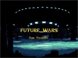 Title screen of Future Wars on the Commodore Amiga.