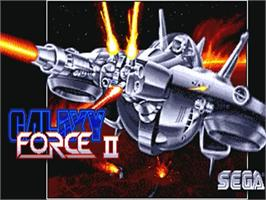 Title screen of Galaxy Force 2 on the Commodore Amiga.