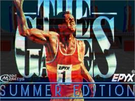 Title screen of Games: Summer Edition on the Commodore Amiga.