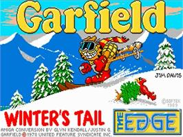 Title screen of Garfield: Winter's Tail on the Commodore Amiga.