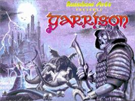 Title screen of Garrison on the Commodore Amiga.