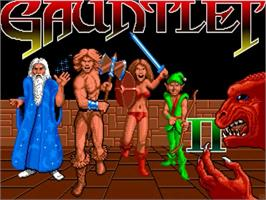 Title screen of Gauntlet II on the Commodore Amiga.