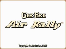 Title screen of Gee Bee Air Rally on the Commodore Amiga.