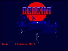 Title screen of Geisha on the Commodore Amiga.