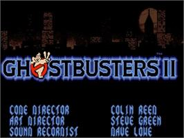 Title screen of Ghostbusters 2 on the Commodore Amiga.
