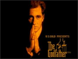 Title screen of Godfather: The Action Game on the Commodore Amiga.