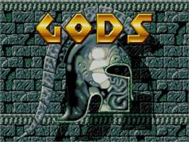 Title screen of Gods on the Commodore Amiga.