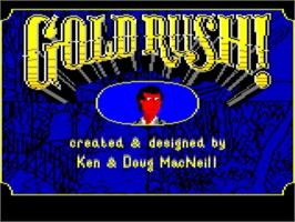 Title screen of Gold Rush on the Commodore Amiga.