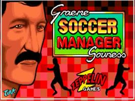 Title screen of Graeme Souness Soccer Manager on the Commodore Amiga.