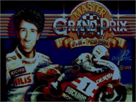 Title screen of Grand Prix Master on the Commodore Amiga.