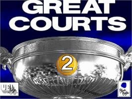 Title screen of Great Courts 2 on the Commodore Amiga.