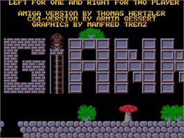 Title screen of Great Giana Sisters on the Commodore Amiga.