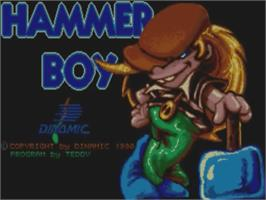 Title screen of Hammer Boy on the Commodore Amiga.