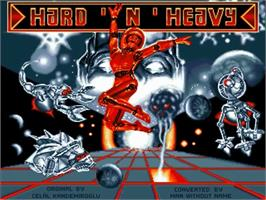 Title screen of Hard 'n Heavy on the Commodore Amiga.