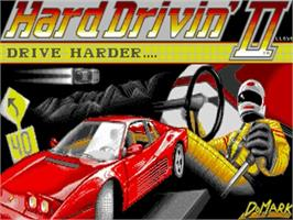 Title screen of Hard Drivin' 2 on the Commodore Amiga.