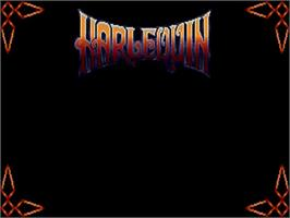 Title screen of Harlequin on the Commodore Amiga.