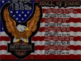 Title screen of Harley-Davidson: The Road to Sturgis on the Commodore Amiga.