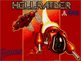 Title screen of Hellraider on the Commodore Amiga.