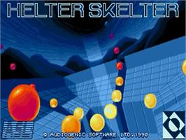Title screen of Helter Skelter on the Commodore Amiga.