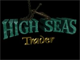 Title screen of High Seas Trader on the Commodore Amiga.
