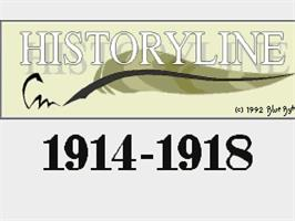 Title screen of Historyline: 1914 - 1918 on the Commodore Amiga.