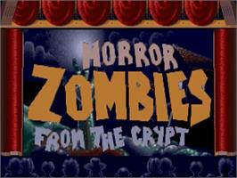 Title screen of Horror Zombies from the Crypt on the Commodore Amiga.
