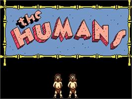 Title screen of Humans on the Commodore Amiga.