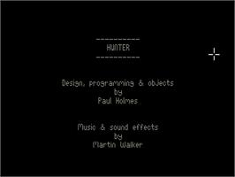 Title screen of Hunter on the Commodore Amiga.