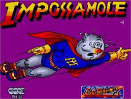 Title screen of Impossamole on the Commodore Amiga.