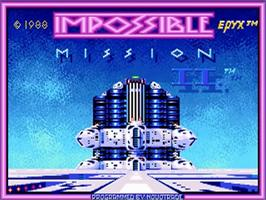 Title screen of Impossible Mission 2 on the Commodore Amiga.