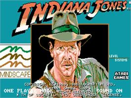 Title screen of Indiana Jones and the Temple of Doom on the Commodore Amiga.