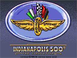 Title screen of Indianapolis 500: The Simulation on the Commodore Amiga.