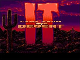 Title screen of It Came from the Desert on the Commodore Amiga.