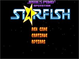 Title screen of James Pond 3: Operation Starfish on the Commodore Amiga.