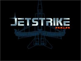 Title screen of Jet Strike on the Commodore Amiga.