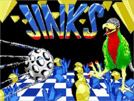 Title screen of Jinks on the Commodore Amiga.
