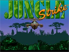 Title screen of Jungle Strike on the Commodore Amiga.