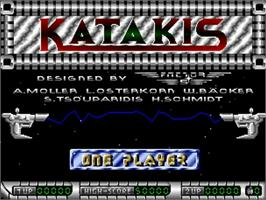 Title screen of Katakis on the Commodore Amiga.