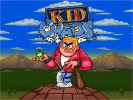 Title screen of Kid Chaos on the Commodore Amiga.