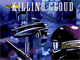 Title screen of Killing Cloud on the Commodore Amiga.