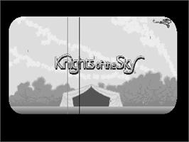 Title screen of Knights of the Sky on the Commodore Amiga.