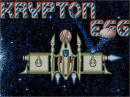 Title screen of Krypton Egg on the Commodore Amiga.