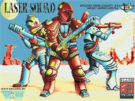 Title screen of Laser Squad on the Commodore Amiga.