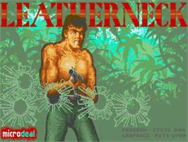Title screen of Leather Neck on the Commodore Amiga.