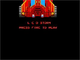 Title screen of Led Storm on the Commodore Amiga.