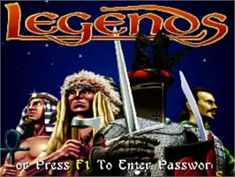 Title screen of Legends on the Commodore Amiga.