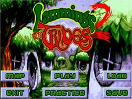 Title screen of Lemmings 2: The Tribes on the Commodore Amiga.