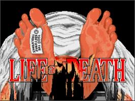 Title screen of Life & Death on the Commodore Amiga.